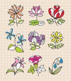 De hand trekt bloem Stock Foto's