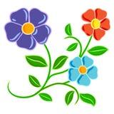 De hand trekt bloemen Stock Afbeeldingen
