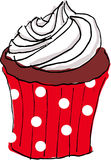 De hand trekt cupcake Royalty-vrije Stock Foto's