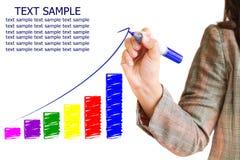 De hand trekt een grafiek Stock Fotografie