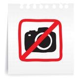 Geen foto op document Nota Royalty-vrije Stock Afbeeldingen