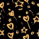 De hand trekt gouden patroon stock fotografie