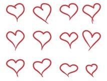 De hand trekt hart Royalty-vrije Stock Foto