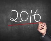 De hand trekt het aantal van 2016 Stock Foto's