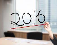 De hand trekt het aantal van 2016 Stock Fotografie