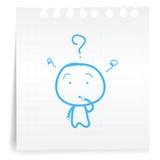 Ken cartoon_on document geen Nota Royalty-vrije Stock Foto's