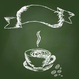 De hand trekt koffie Stock Foto