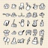 De hand trekt naar huis pictogram Stock Fotografie
