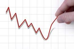 De hand trekt omhoog stockprice Royalty-vrije Stock Fotografie