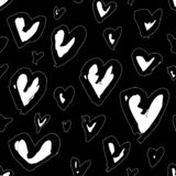 De hand trekt patroon met logotype royalty-vrije stock foto
