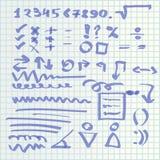De hand trekt pictogrammen Royalty-vrije Stock Afbeelding
