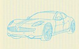 Het document van de schets car_on Royalty-vrije Stock Foto