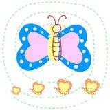 De hand trekt Vlinder Royalty-vrije Stock Afbeeldingen