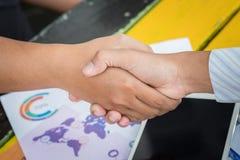 De Hand van de bedrijfsmensenschok Stock Foto