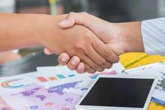De Hand van de bedrijfsmensenschok Stock Afbeeldingen