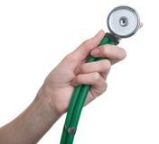 De Hand van de arts - de gehouden Close-up van de Stethoscoop stock afbeeldingen