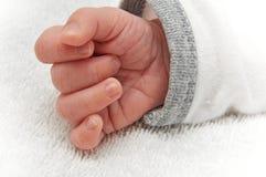 De hand van de baby Stock Foto