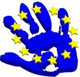De hand van de EU Stock Foto's