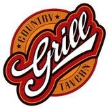 De hand van de grill het van letters voorzien ontwerp Royalty-vrije Stock Fotografie