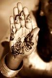 De Hand van de henna Royalty-vrije Stock Fotografie