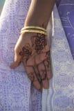 De Hand van de henna stock fotografie