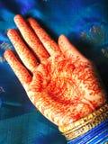 De hand van de henna Stock Foto's