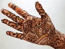 De hand van de henna Stock Foto