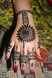 De hand van de henna Stock Afbeeldingen