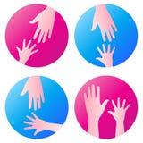 De hand van de hulp royalty-vrije illustratie
