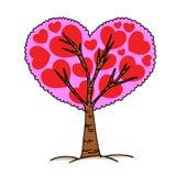 De hand van de liefdeboom trekt stijl, Royalty-vrije Stock Afbeeldingen