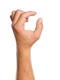 De hand van de mens Stock Foto's