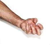 De hand van de mens `s Stock Foto