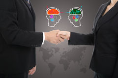 De hand van de partnerschok voor succesvolle zaken Royalty-vrije Stock Afbeeldingen