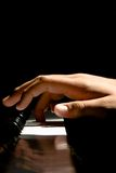 De Hand van de piano Stock Foto