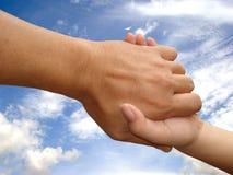 De hand van de redding, die Hand helpt Stock Afbeelding