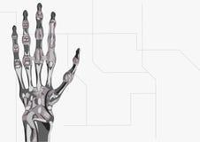 De hand van de robot Stock Foto's