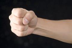 De hand van de strijd Stock Afbeeldingen