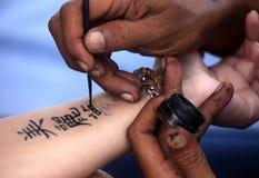 De Hand van de tatoegering Royalty-vrije Stock Foto
