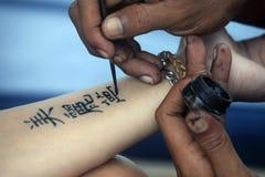 De Hand van de tatoegering stock fotografie