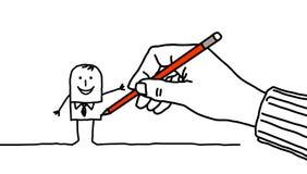 De hand van de tekening Stock Foto's