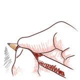 De hand van de tekening (vector) Royalty-vrije Stock Foto