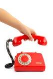 De hand van de telefoon en van de vrouw Royalty-vrije Stock Fotografie