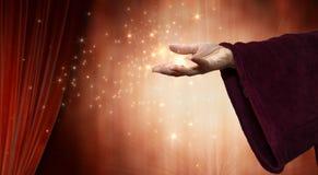 De hand van de tovenaar stock fotografie