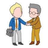 De hand van de twee zakenmanschok Stock Foto
