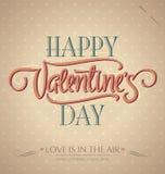 De hand van de valentijnskaart het van letters voorzien () Royalty-vrije Stock Foto's