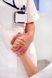 De hand van de verpleegster Royalty-vrije Stock Afbeeldingen