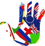 De hand van de vlag royalty-vrije illustratie