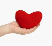 De hand van de vrouw met hart royalty-vrije stock afbeeldingen