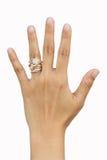 De hand van de weduwe royalty-vrije stock afbeelding