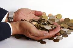 De Hand van de zakenman Royalty-vrije Stock Afbeeldingen